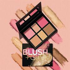 Avon BLUSH & GLOW Rouge-, Bronzepuder- und Highlighter-Palette Neu