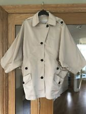 Karen Millen Cream Batwing Rain Trench Jacket Coat Mac UK Size 14 - No Belt