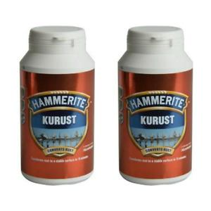 2 x Hammerite Kurust Rust Killer Converts Rusty Metal One Coat Treatment 250ml