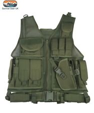 Green Cross Draw Tactical Vest Security Airsoft Paintball Webbing Army Airsoft