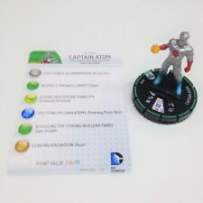 Heroclix Superman / Wonder Woman set Captain Atom #013b Prime figure w/card!