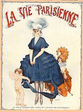 1920's La Vie Parisienne French Cherub Joker France Travel Advertisement Poster