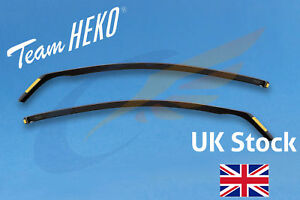 FORD FOCUS mk2 3-doors Hatchback ST RS 2004-2010 2pc Wind Deflectors HEKO Tinted