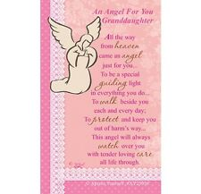 AN ANGEL FOR YOU GRANDDAUGHTER - WALLET KEEPSAKE VERSE PRAYER CARD OTHERS LISTED