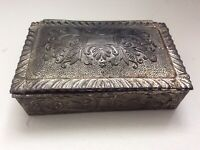Vintage Jewelry Trinket Small Metal Box Made in Occupied Japan