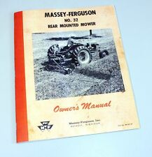 MASSEY FERGUSON No 32 MOWER OPERATORS OWNERS MANUAL BAR SICKLE GUARD MF SECTION