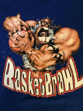 Vintage 90's BasketBrawl Graphic T-Shirt Men's Xl Basketball Arch Rivals Video
