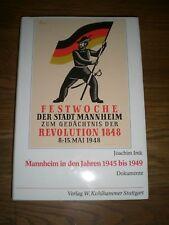 Mannheim in den Jahren 1945 bis 1949 Dokumente 1983 RAR