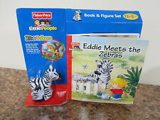 Fisher Price Little People Zoo Talkers Animal Zebra jungle Book Figure NEW Eddie