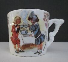 Antique Buster Brown Mary Jane Small Cup/Mug Germany? Shamrock/4 leaf Clover