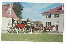 VA Mount Vernon Powel Horse Drawn Coach Vintage Postcard