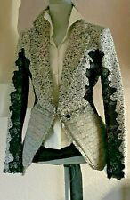 $2600 avant-garde DONNA KARAN collection Wool/lace  unlined stretch  JACKET M  8