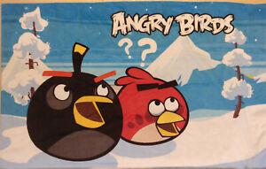 ANGRY BIRDS REVERSIBLE STANDARD PILLOW CASE VELVETY SOFT POLYESTER