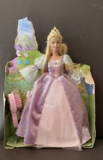 Rapunzel Barbie Doll 2001 With Long Growing Hair, Clips, Musical Hairbrush! NEW