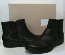 Clarks Women's Cheyn Work Ankle Boots sz 8 Black Leather  $167