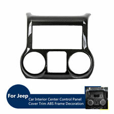 ForJeep Wrangler Center Console Dashboard Control Panel Cover Trim Carbon fiber