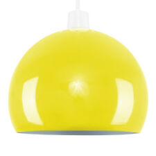 Retro Domed Metal Ceiling Pendant Light Shade Lampshade Easy Fit Shades Decor Yellow