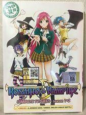 DVD Anime Rosario + Vampire Complete TV Series Season 1 + 2 Eng Dub Free Ship