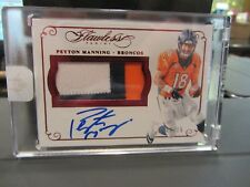 Panini Flawless Ruby On Card Autograph Jersey Broncos Peyton Manning 03/15 2015