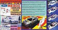 ANEXO DECAL 1/43 FORD RS200 CARLOS SAINZ BAJA ESPAÑA ARAGON 1988 (01)