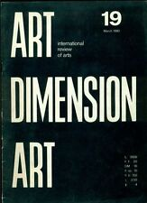 Art Dimension. International review of arts. N. 19 March 1980