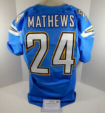 2014 San Diego Chargers Ryan Mathews #24 Game Issued Light Powder Blue
