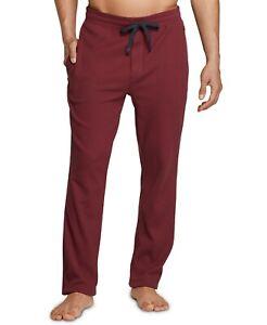 Tommy Hilfiger Thermal Pants Men's Size S Red Tie Waist Sleepwear Lounge Bottoms