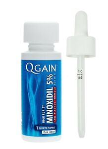Qgain High Purity Minoxidil 5% LOW ALCOHOL FORMULA for MEN 1 month supply