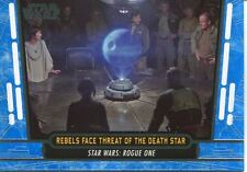 Star Wars 40th Anniversary Blue Base Card #60 Rebels Face Threat of the Death S