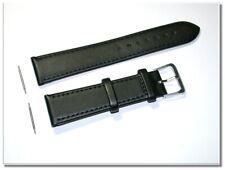 Uhrenarmband Echt Leder Buffaloleder Edelstahl Dornschließe 18mm Neu 037