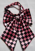 Ladies girls women adjustable pretied bow silk satin bow tie cravat squares T10