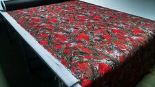 """1000D COATED OUTDOOR CORDURA MC2 RED HUNTING CAMO FABRIC 60"""" TRUE TIMBER DWR"""