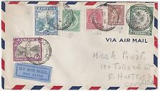 JAMAICA 1935 MONTEGO BAY MULTIFRANKED AIR MAIL COVER TO US
