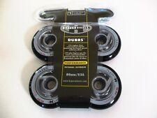 1 NEW 4 Packs of Black Hyper Wheels DUBBS Outdoor 80mm 82A