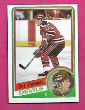 1984-85 TOPPS # 90 DEVILS PAT VERBEEK  ROOKIE NRMT-MT CARD (INV# C0237)