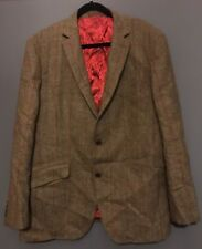 Mens Vintage VIYELLA Tweed Blazer Size 44 Browns, Red Stripe
