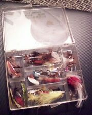 box lot of fishing fly's