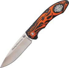 Case CA52119 Orange Harley-Davidson Tex X Linerlock Folding Knife Pocket Folder