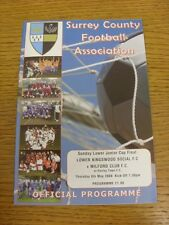 08/05/2008 Surrey County Sunday Lower Junior Cup Final: Lower Kingswood Social v