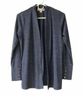 Michael Kors Women's Open Front Cardigan Sweater Long Sleeve Sz S
