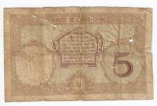 New Caledonia NOUMEA 5 francs ND (1926) # 36 A Rare!   sign. titles