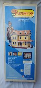 Vintage 1993 Dura-Craft FH 505 Farmhouse Dollhouse Kit Barely Started