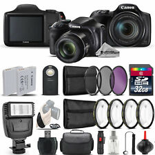 Canon PowerShot SX540 HS Digital Camera+ Flash + 7PC Filter + EXT BAT - 32GB Kit