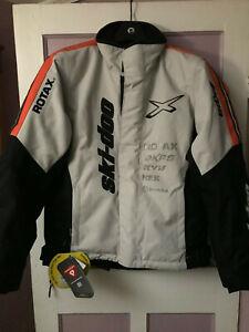 Ski-Doo X-Team Winter Jacket Grey/Orange Size Medium - 4407200609 440720