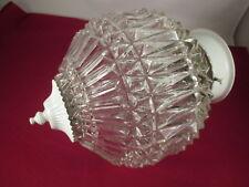 "MID-CENTURY Light Fixture Ceiling Globe Chandelier Sphere Ball Round Glass 8x11"""