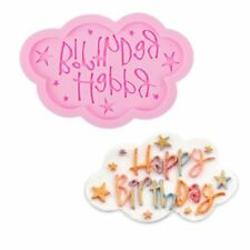 Happy Birthday Silicone Fondant Mould Cake Decorating Cloud Lace Baking Mold