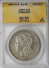 1897-O $1 ANACS AU 50 Details (Damaged) Morgan Silver Dollar