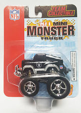 1-2003 FLEER 1/64 Die Cast NFL Oakland Raiders Mini-Monster Truck Pull Back Toy