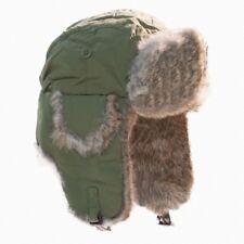 YUKON OLIVE GREEN ALASKAN GENUINE FUR HAT MODEL HG-642 SIZE LARGE