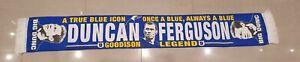 Everton Legend Duncan Ferguson Scarf - A True Blue Icon - Big Dunc